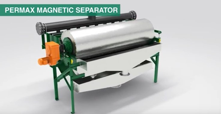 Permax Wet Drum Magnetic Separator