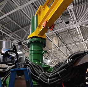 Maintain cyclone distributors and clusters easily with Multotec's cyclone distributor cluster jib.