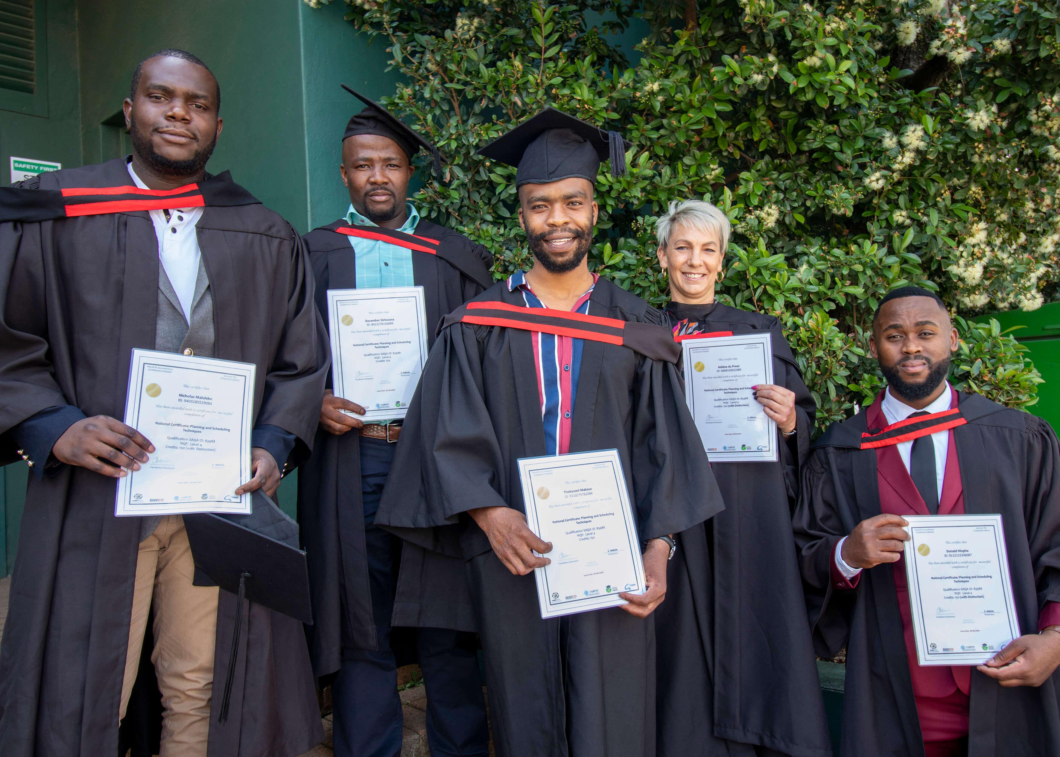 Multotec Learnerships' graduates.