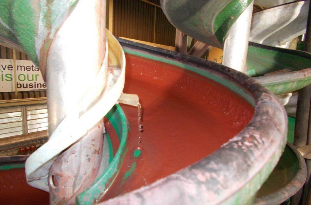 Drip System Wash Water In Coarse Iron Ore