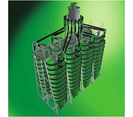 Spirals are used in solid/liquid separation used in ore processing.